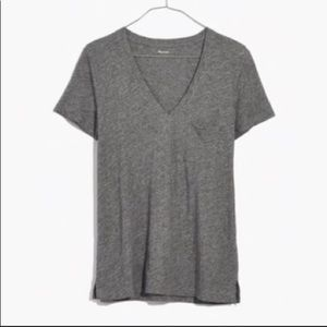 NWT Madewell Whisper Cotton Tee Shirt Gray Large